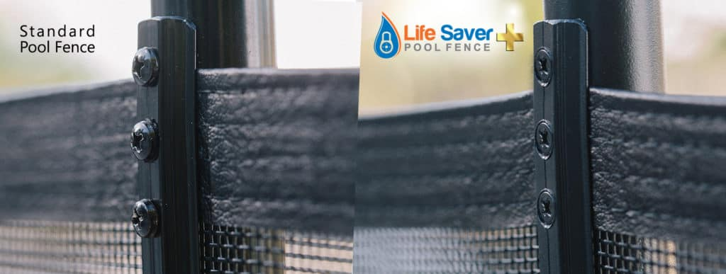 Life Saver Pool Fence vs other standard fence