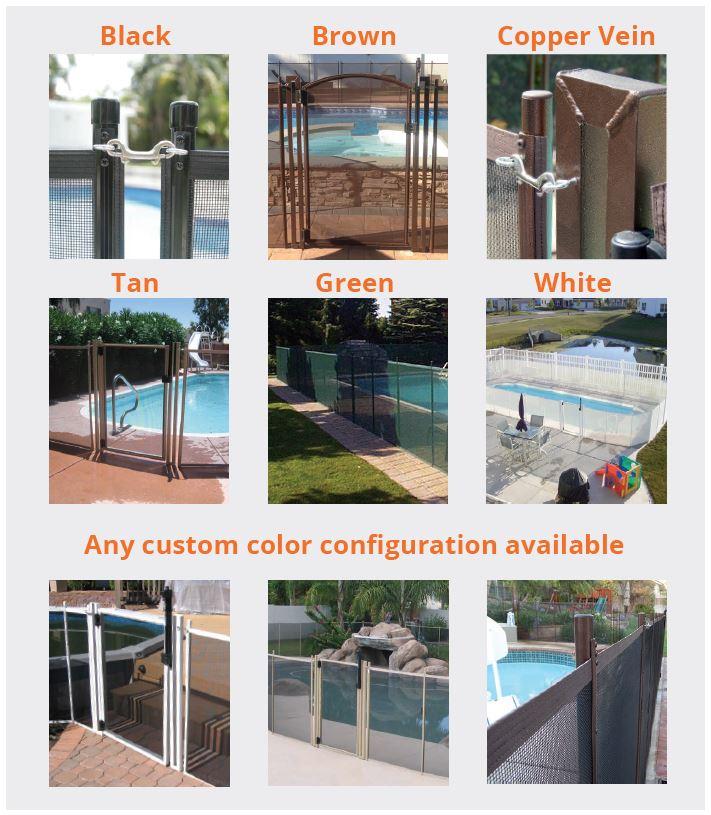 Life Saver Pool Fence Color Options