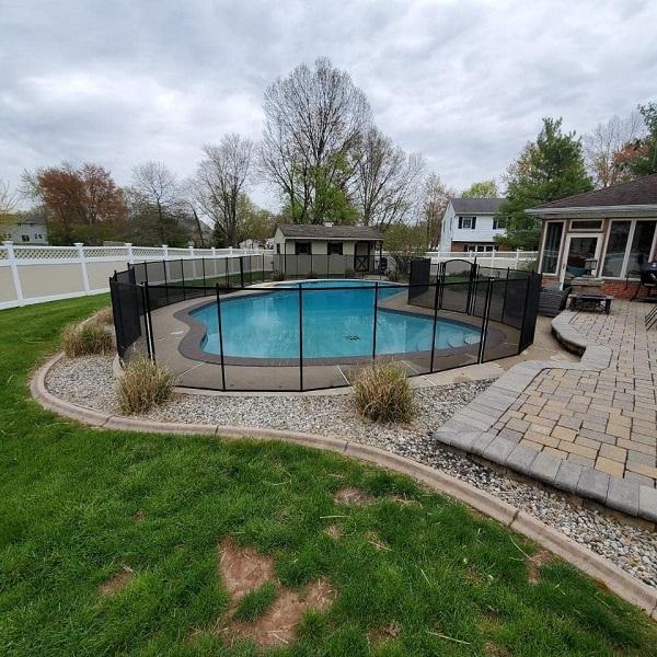 removable mesh pool fence Bucks County